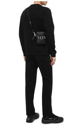Мужская кожаная сумка vltn valentino garavani VALENTINO черно-белого цвета, арт. VY2B0943/WJW | Фото 2