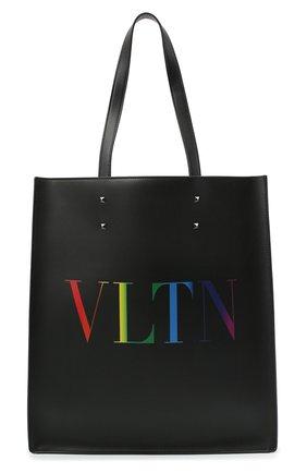 Мужская кожаная сумка-тоут vltn valentino garavani VALENTINO черного цвета, арт. VY2B0731/IUA | Фото 1
