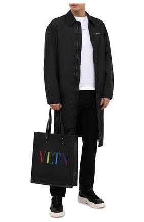 Мужская кожаная сумка-тоут vltn valentino garavani VALENTINO черного цвета, арт. VY2B0731/IUA | Фото 2