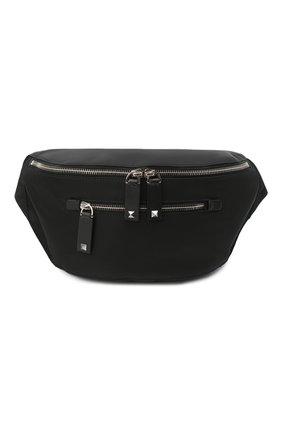 Мужская текстильная поясная сумка valentino garavani VALENTINO черного цвета, арт. VY2B0664/RPY | Фото 1