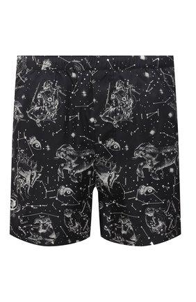 Мужские плавки-шорты VALENTINO черного цвета, арт. VV3UH02870Q | Фото 1 (Принт: С принтом; Материал внешний: Синтетический материал; Мужское Кросс-КТ: плавки-шорты)