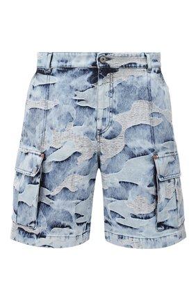 Мужские джинсовые шорты VALENTINO голубого цвета, арт. VV3DD00T723   Фото 1