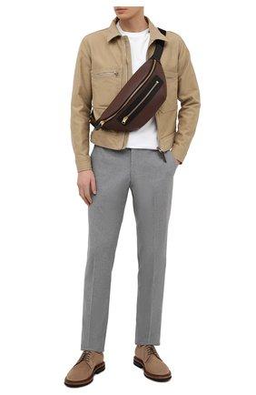 Мужская кожаная поясная сумка TOM FORD коричневого цвета, арт. H0396T-LCL037 | Фото 2