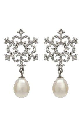 Женские серьги snowflake DZHANELLI серебряного цвета, арт. 0249 | Фото 1