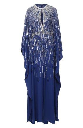 Женское платье с пайетками ZUHAIR MURAD синего цвета, арт. KAP20033/CRCA008 | Фото 1