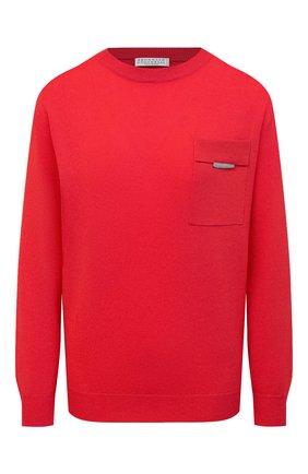Женский кашемировый пуловер BRUNELLO CUCINELLI красного цвета, арт. M12170000 | Фото 1