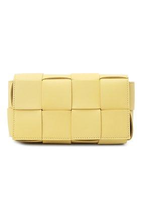 Женская поясная сумка cassette BOTTEGA VENETA желтого цвета, арт. 639367/VMAY1 | Фото 1