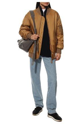 Женские текстильные кроссовки 360 lp walk LORO PIANA темно-серого цвета, арт. FAI7759 | Фото 2 (Материал внешний: Текстиль; Материал внутренний: Текстиль, Натуральная кожа; Подошва: Платформа)