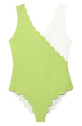 Детского слитный купальник MARYSIA BUMBY светло-зеленого цвета, арт. B0067   Фото 1