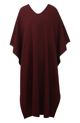 Женская пончо из вискозы VALENTINO бордового цвета, арт. VB3KS00P66Y | Фото 1 (Длина (верхняя одежда): До колена; Стили: Кэжуэл; Материал внешний: Вискоза)