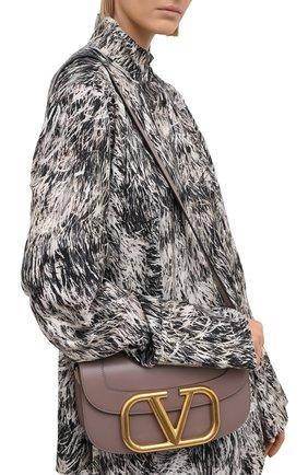 Женская сумка valentino garavani supervee VALENTINO темно-бежевого цвета, арт. VW2B0G09/ZXL | Фото 2