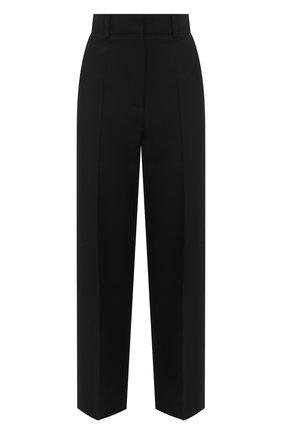 Женские брюки из шерсти и шелка VALENTINO черного цвета, арт. VB3RB4701CF | Фото 1