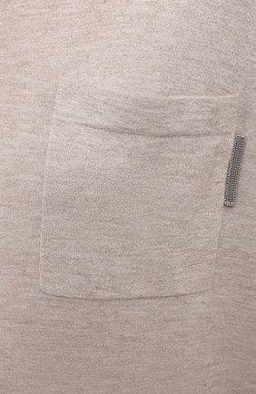 Женский пуловер BRUNELLO CUCINELLI бежевого цвета, арт. M9A820800 | Фото 5