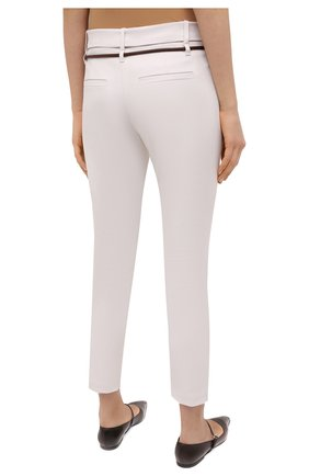 Женские хлопковые брюки BRUNELLO CUCINELLI светло-бежевого цвета, арт. MA126P7214   Фото 4