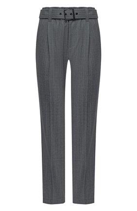 Женские шерстяные брюки BRUNELLO CUCINELLI темно-серого цвета, арт. MB591P7539 | Фото 1