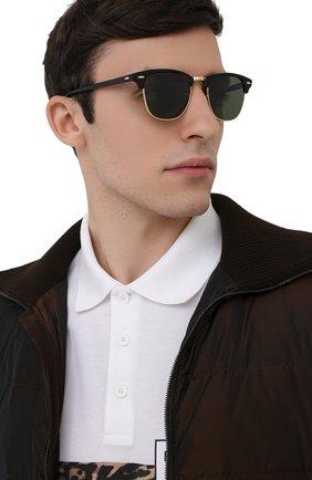 Мужские солнцезащитные очки RAY-BAN черного цвета, арт. 3016-901/58 | Фото 3
