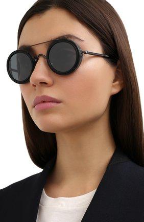 Женские солнцезащитные очки MATSUDA черного цвета, арт. M3080 MBK-BLK | Фото 2