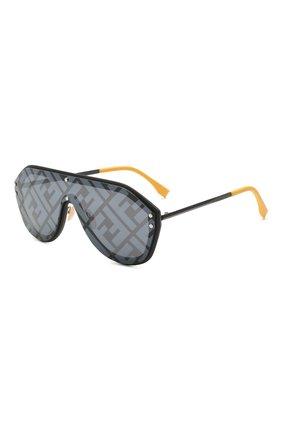 Женские солнцезащитные очки FENDI черного цвета, арт. M0039/G 71C   Фото 1
