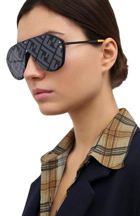 Женские солнцезащитные очки FENDI черного цвета, арт. M0039/G 71C   Фото 2