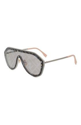Женские солнцезащитные очки FENDI серого цвета, арт. M0039/G 7HH   Фото 1