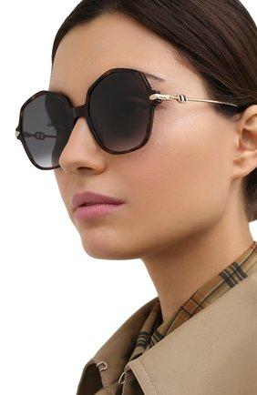 Женские солнцезащитные очки DIOR черного цвета, арт. DI0RLINK2 086 | Фото 2