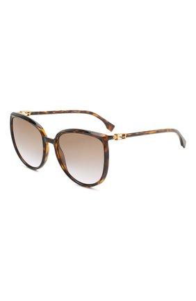 Женские солнцезащитные очки FENDI коричневого цвета, арт. 0432/G 086   Фото 1
