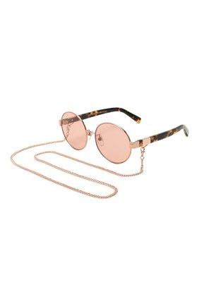 Женские солнцезащитные очки с цепочкой MARC JACOBS (THE) розового цвета, арт. MARC 497/G 013 | Фото 1