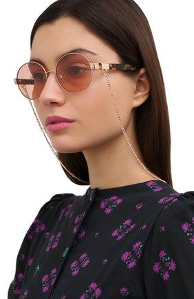 Женские солнцезащитные очки с цепочкой MARC JACOBS (THE) розового цвета, арт. MARC 497/G 013 | Фото 2