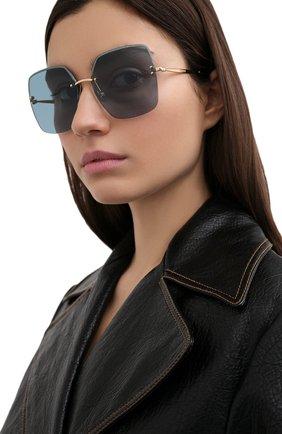 Женские солнцезащитные очки JIMMY CHOO голубого цвета, арт. TAVI YD2 | Фото 2