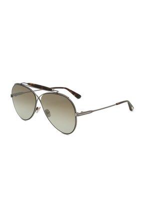 Женские солнцезащитные очки TOM FORD серого цвета, арт. TF818 08G | Фото 1