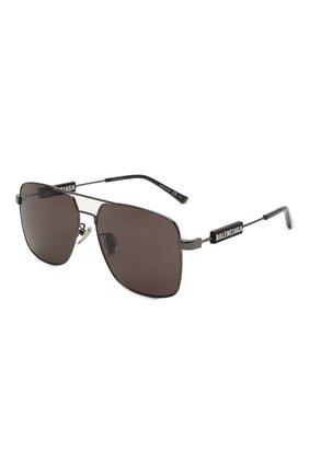 Женские солнцезащитные очки BALENCIAGA черного цвета, арт. BB0116SA 001 | Фото 1