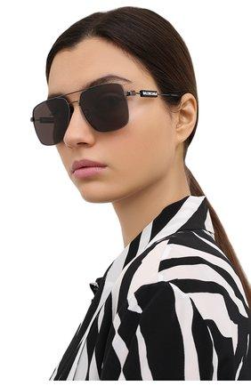 Женские солнцезащитные очки BALENCIAGA черного цвета, арт. BB0116SA 001 | Фото 2