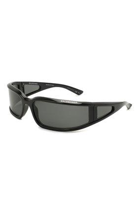 Женские солнцезащитные очки BALENCIAGA черного цвета, арт. BB0123S 001 | Фото 1