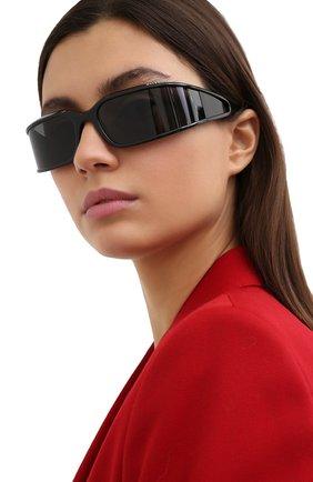 Женские солнцезащитные очки BALENCIAGA черного цвета, арт. BB0123S 001 | Фото 2