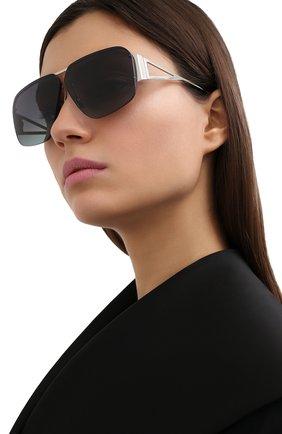 Женские солнцезащитные очки BOTTEGA VENETA черного цвета, арт. BV1065S 001 | Фото 2