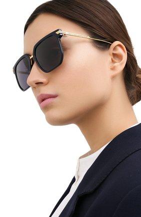 Женские солнцезащитные очки BOTTEGA VENETA черного цвета, арт. BV1083SA 003 | Фото 2