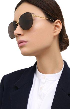 Женские солнцезащитные очки BOTTEGA VENETA черного цвета, арт. BV1084SA 002 | Фото 2