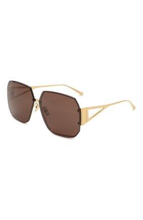 Женские солнцезащитные очки BOTTEGA VENETA темно-коричневого цвета, арт. BV1085SA 002   Фото 1
