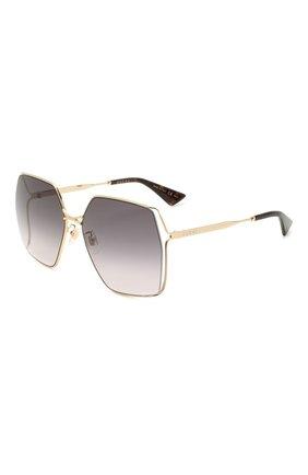 Женские солнцезащитные очки GUCCI серого цвета, арт. GG0817S 001 | Фото 1