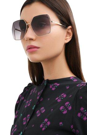 Женские солнцезащитные очки GUCCI серого цвета, арт. GG0817S 001 | Фото 2