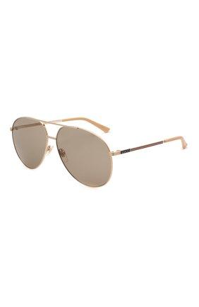 Женские солнцезащитные очки GUCCI светло-коричневого цвета, арт. GG0832S 004   Фото 1