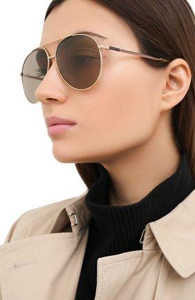 Женские солнцезащитные очки GUCCI светло-коричневого цвета, арт. GG0832S 004   Фото 2