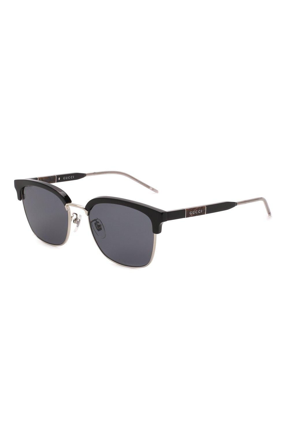 Мужские солнцезащитные очки GUCCI черного цвета, арт. GG0846SK 001 | Фото 1