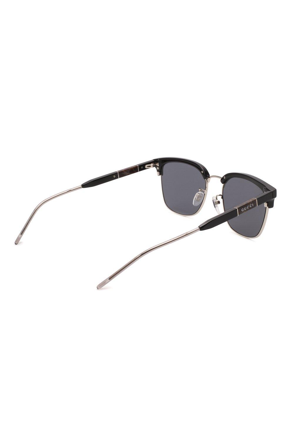 Мужские солнцезащитные очки GUCCI черного цвета, арт. GG0846SK 001 | Фото 4