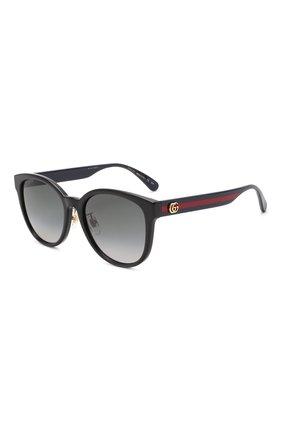 Женские солнцезащитные очки GUCCI черного цвета, арт. GG0854SK 002 | Фото 1