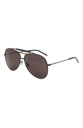 Женские солнцезащитные очки SAINT LAURENT черного цвета, арт. CLASSIC 11 0VER 002 | Фото 1