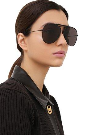 Женские солнцезащитные очки SAINT LAURENT черного цвета, арт. CLASSIC 11 0VER 002 | Фото 2