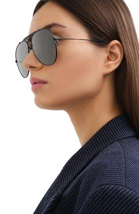 Женские солнцезащитные очки SAINT LAURENT черного цвета, арт. CLASSIC 11 0VER 003 | Фото 2