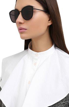 Женские солнцезащитные очки SAINT LAURENT черного цвета, арт. SL 377/K SLIM 002 | Фото 2