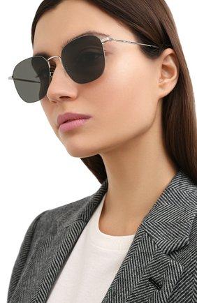 Женские солнцезащитные очки SAINT LAURENT черного цвета, арт. SL 388/K WIRE 001 | Фото 2